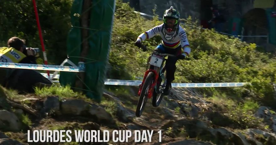 2017 Lourdes World Cup Downhill Action
