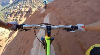 DON'T LOOK DOWN - Mountain Biking on the Edge, White Line, Sedona, Arizona