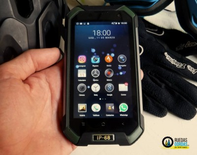 Blackview BV6000 el smartphone indestructible para mountain bike