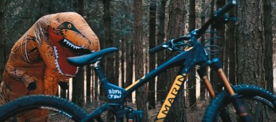 Un T- Rex en Mountain Bike