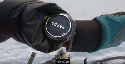 Kilian BRON - 6039 mt de altitud con una MTB