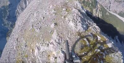 Terrorífico trail MTB de roca