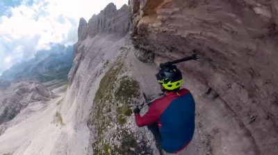 Kilian Bron - MTB en Dolomites Via Ferrata Trail