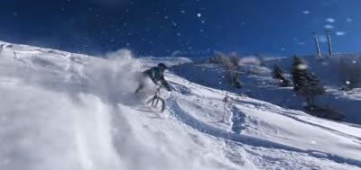 Freeride MTB en nieve en Polvo